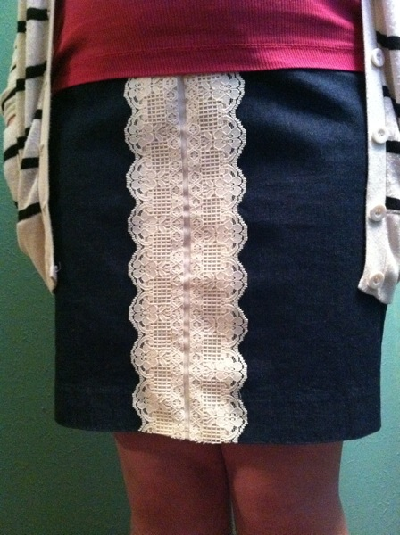 Denim Skirt Finish 1