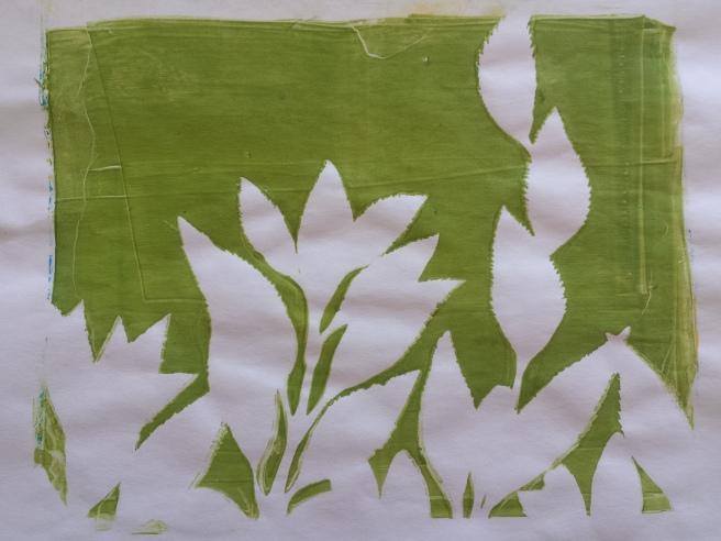 Gelatin Print Leaf Outline