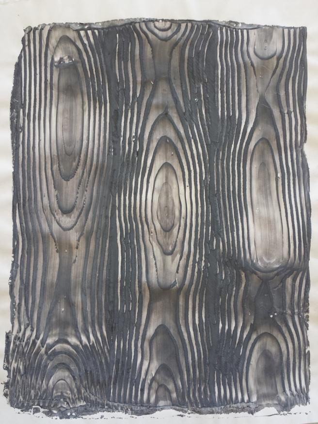 Gelatin Print Wood Grain