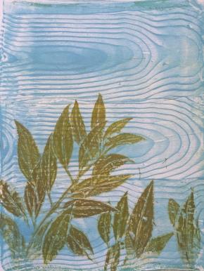 Gelatin Print Leaves