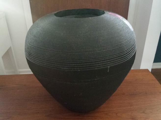 Large Cardboard Vase