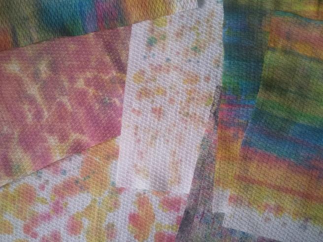 Inktense Paper Towel Patterns