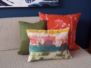 Inktense Watercolor Look Throw Pillow
