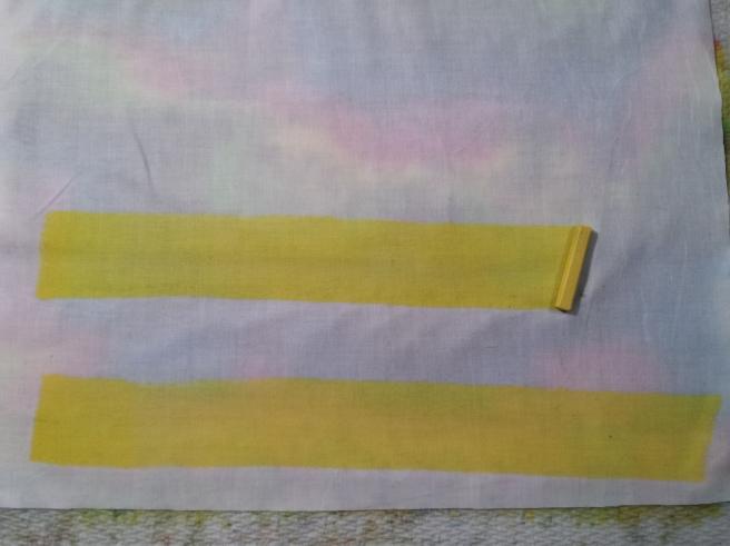 Inktense Pillow Stripes