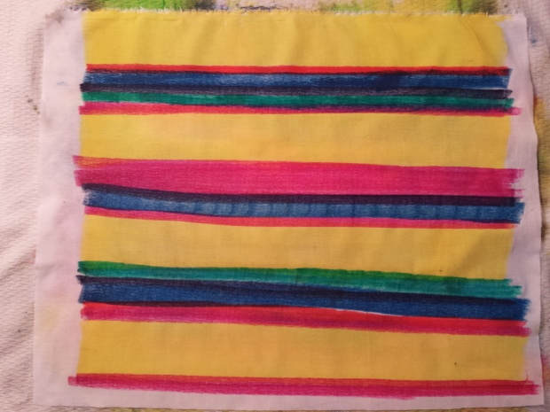 Inktense Pillow Stripes