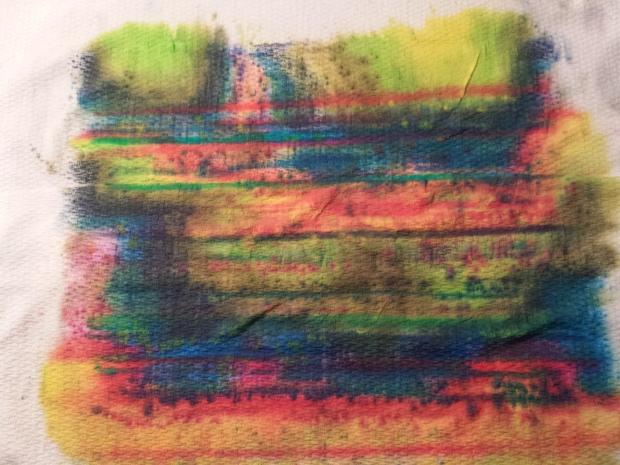 Inktense Pillow Paper Towel Pattern