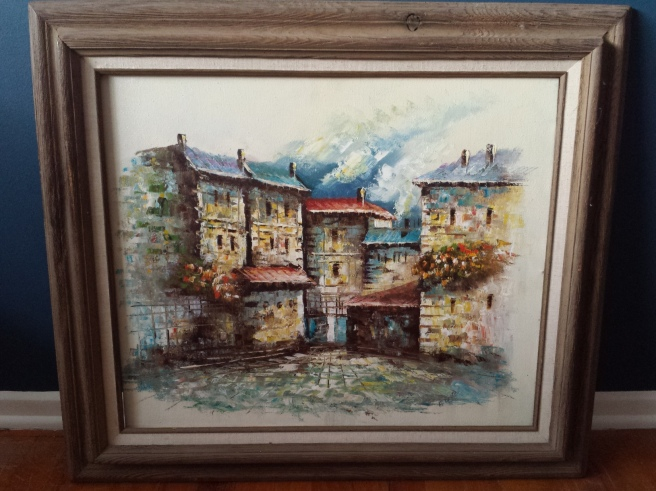 Thrifted Oil Painting Buildings