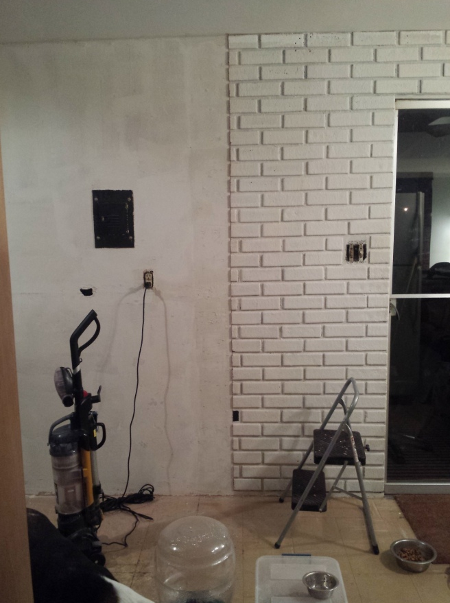 Faux Brick Removal