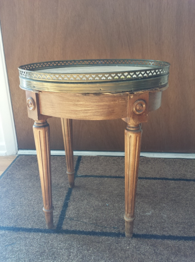Vintage Marble Plant Stand