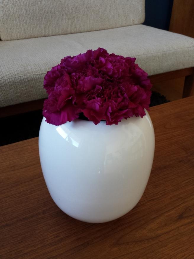 Vintage White Oval Vase