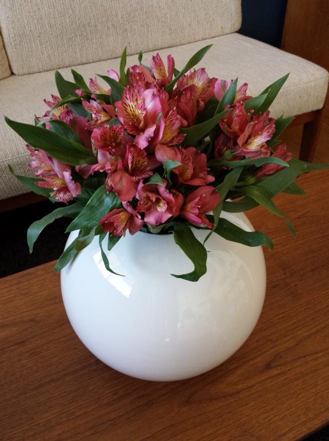 Large Round White Vase