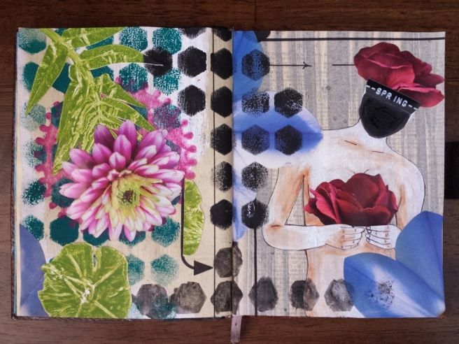 Mixed Media Journal Spring Pages