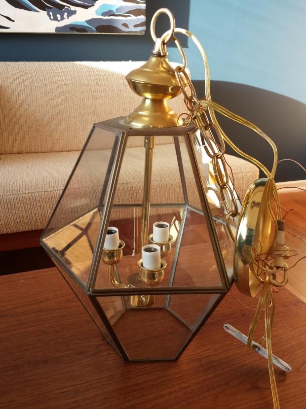 Brass Light Fixture Terrarium