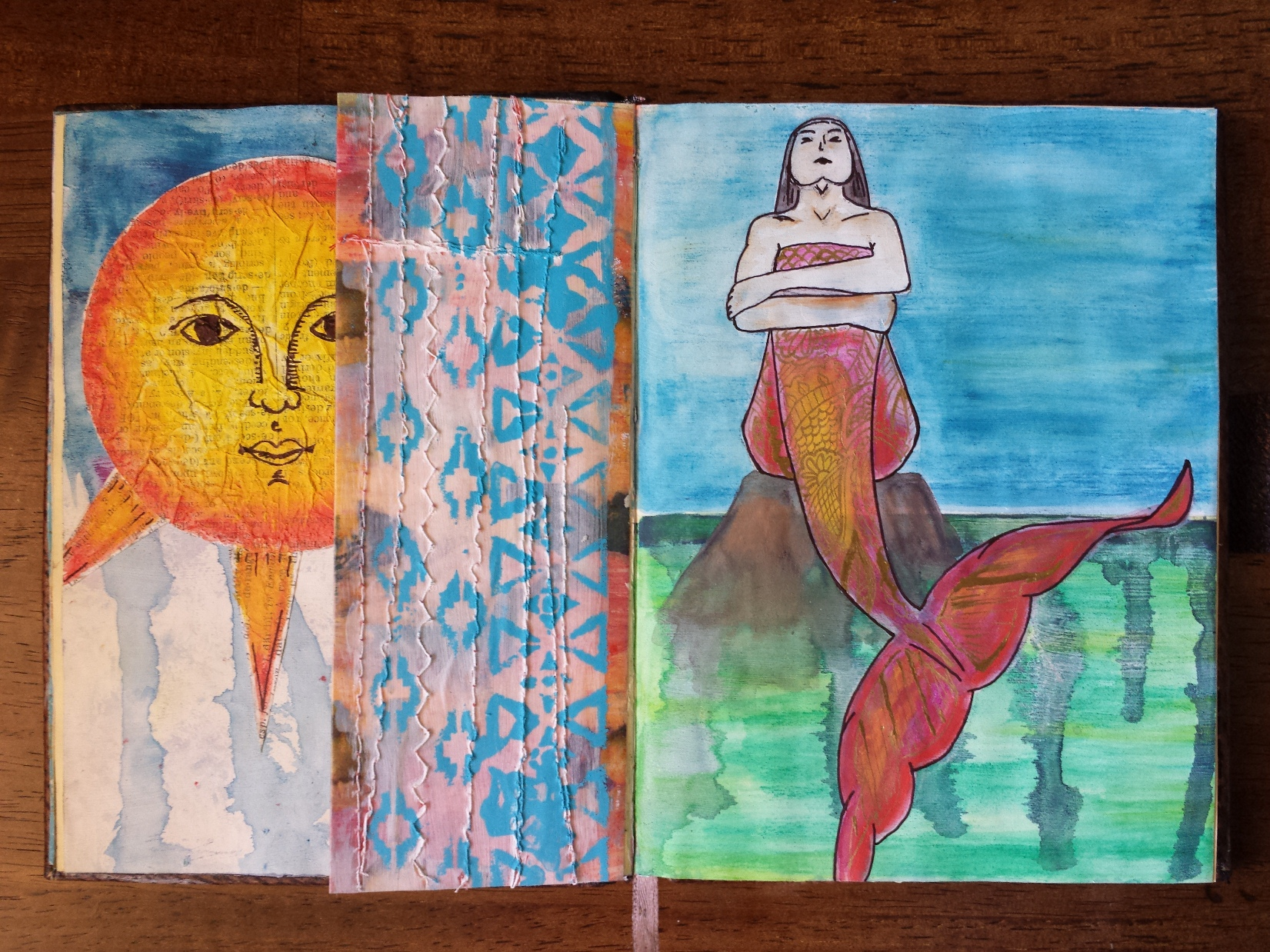 Mermaid Art Journal Illustration