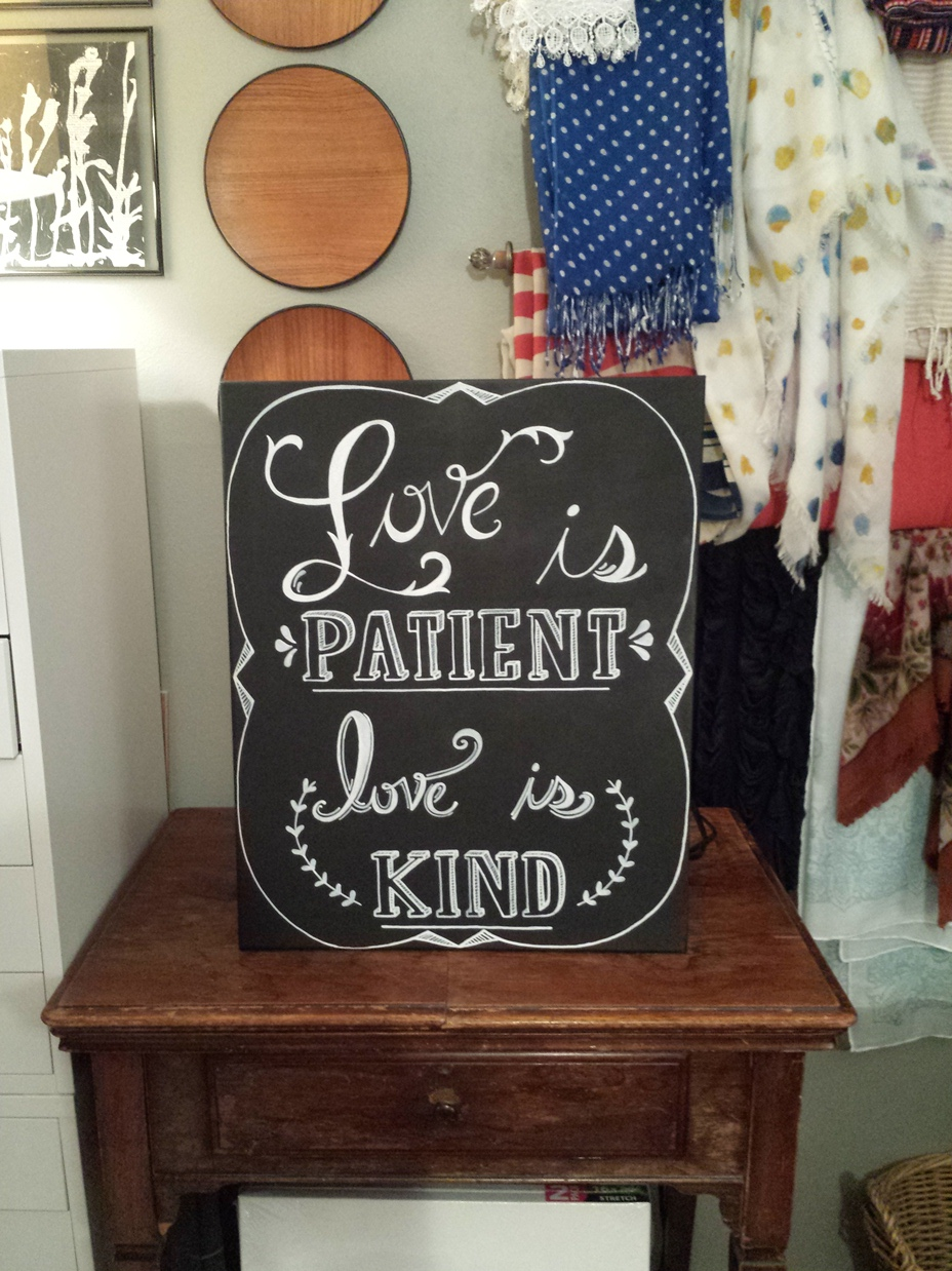 Love is Patient Wedding Canvas