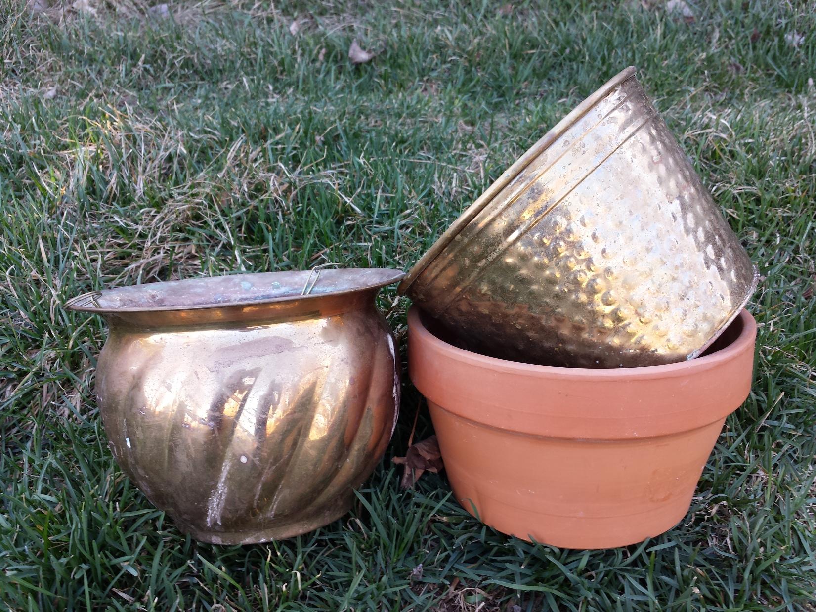 Brass Thrift Store Pots